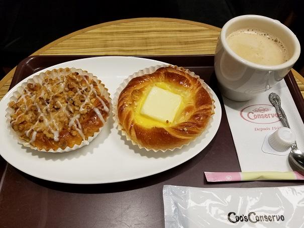 ベーカリーチェーン・クーズ コンセルボ 阪急池田店でモーニングです