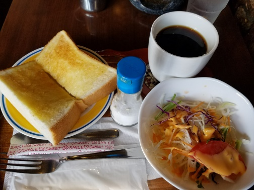 阪急園田駅下の喫茶店「アルバルダン」で朝7時よりモーニングです