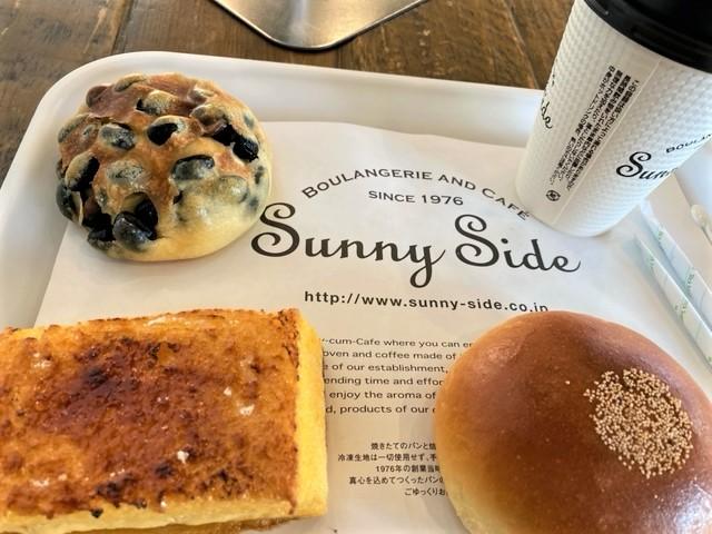 サニーサイド西宮大社店イートインで7時30分、パン・モーニング(朝食)です