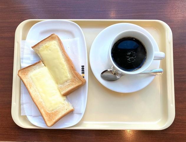 ドトールコーヒーショップ 阪急塚口駅前店で、開店同時7時30分モーニング!