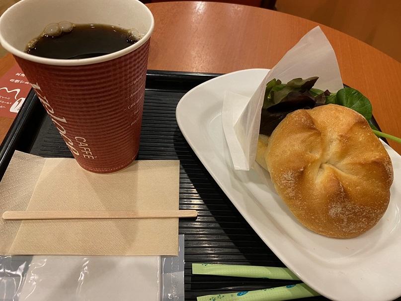 カフェ・ベローチェ 尼崎神田中通店 で7時から初モーニング(朝食)です
